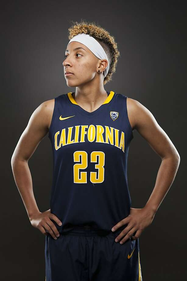 Cal's Layshia Clarendon sports her new blond Mohawk; the Bears' leading scorer says they'll be deeper this season. Photo: Dhon Santos