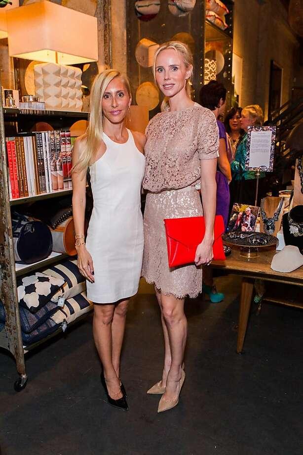 Alexandra Von Furstenberg (left) and Vanessa Getty at Cavalier. Photo: Claudine Gosset For Drew Altize