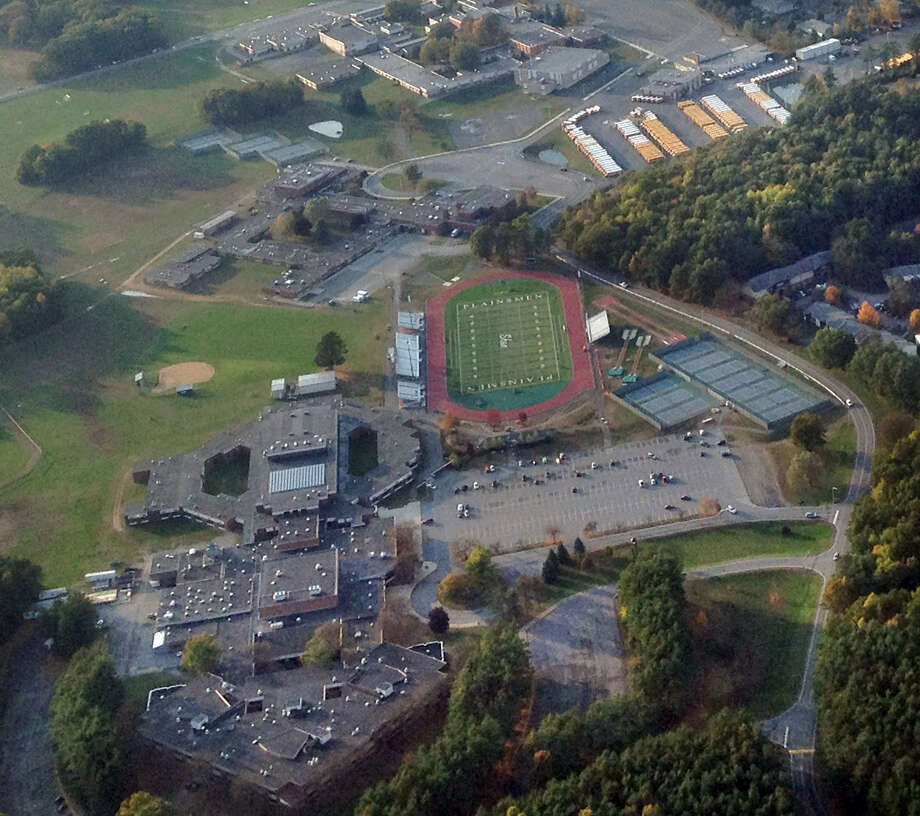 Aerial view of the Shenendehowa school campus in Clifton Park, N.Y., Sunday Oct. 14, 2012. (Will Waldron / Times Union)