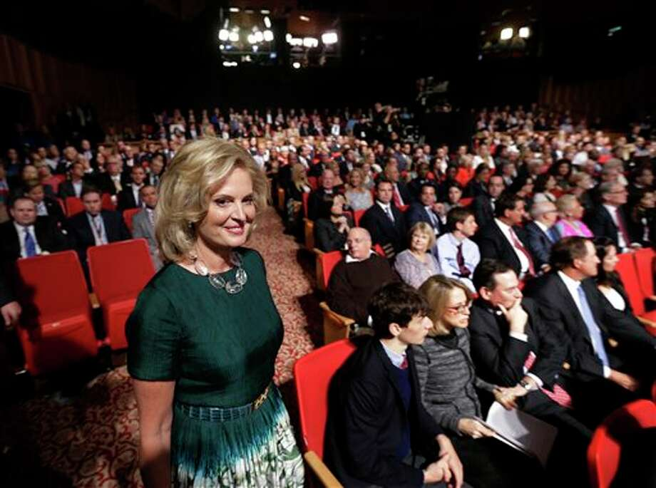 Ann Romney arrives for the third presidential debate between President Barack Obama and Republican presidential nominee Mitt Romney at Lynn University, Monday, Oct. 22, 2012, in Boca Raton, Fla. (AP Photo/Eric Gay) Photo: Eric Gay, AP / AP