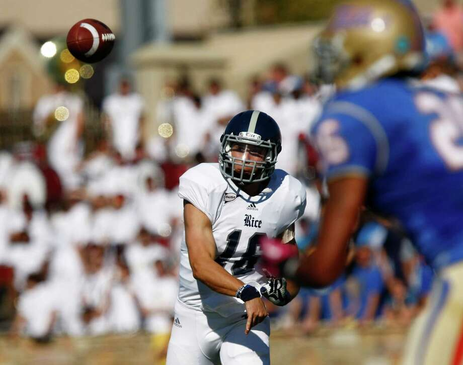 Rice quarterback Taylor McHargue says the Owls could solve a lot of their problems if they could score touchdowns to close out their possessions late in games. Photo: Tom Gilbert / Tulsa World