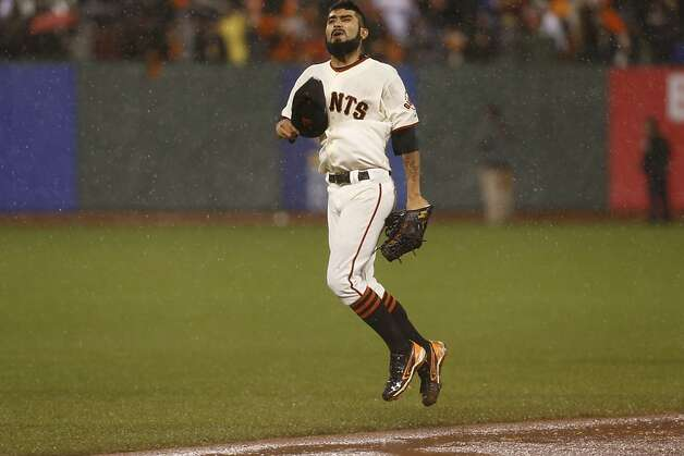 Sergio Romo celebrates the Giants' 9-0 victory over the St. Louis Cardinals to advance to the World Series  during game 7 of the NLCS at AT&T Park on Monday, Oct. 22, 2012 in San Francisco, Calif. Photo: Michael Macor, The Chronicle