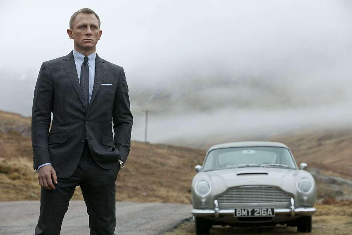 "Daniel Craig in the James Bond movie ""Skyfall."""