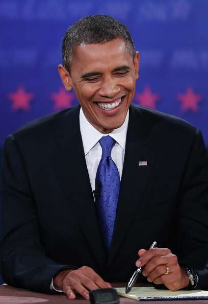 BOCA RATON, FL - OCTOBER 22:  U.S. President Barack Obama debates with Republican presidential candi
