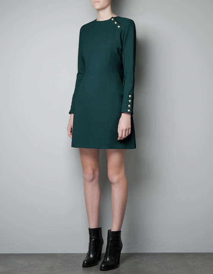 Military dress, $99.90, at Zara.com and Zara Galleria.