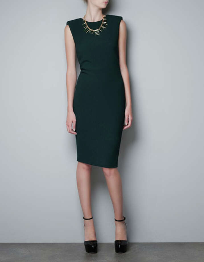 Studio dress with shoulder pads, $89.90, at Zara Galleria and zara.com