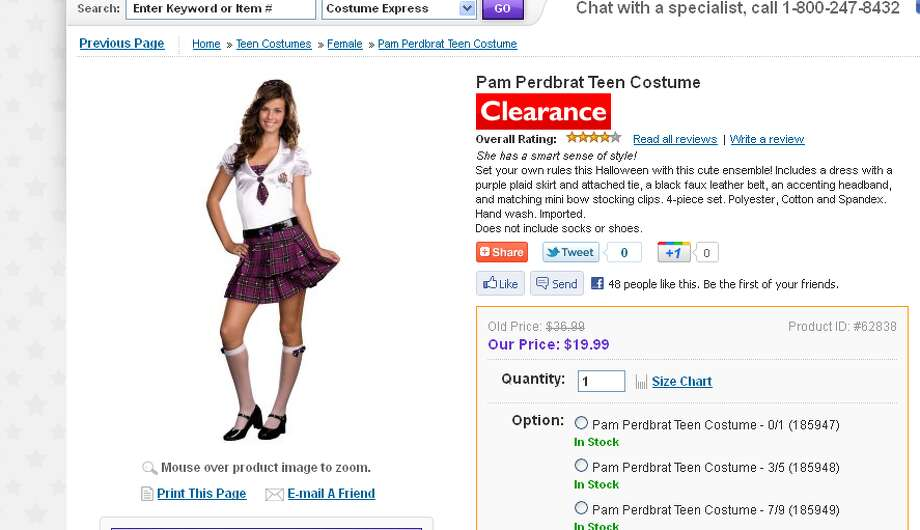 A sexy school girl costume... for a teen? Really?