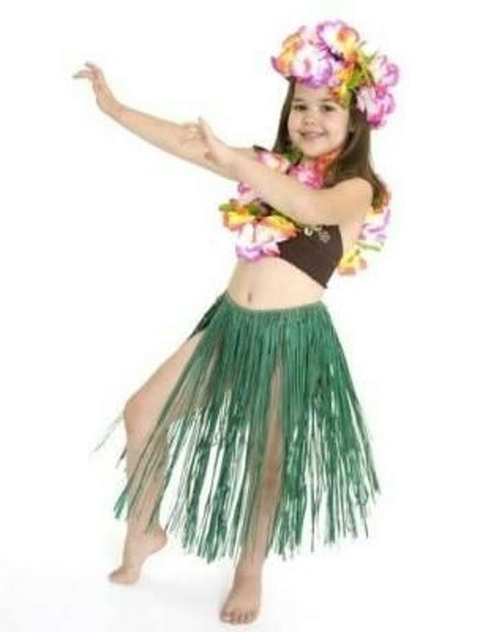 This hula outfit is pretty skimpy for a young girl. Plus, won't she be cold?