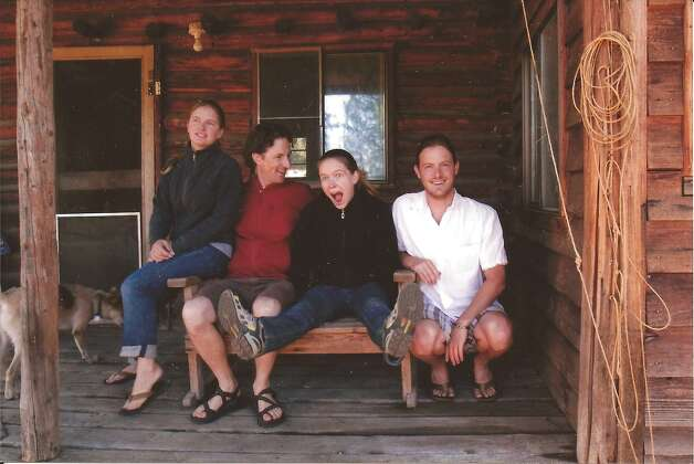Back in 1983, the Kefauvers lived in the small town of Rice, Wash., in the rural northeast corner of the state. The family took a photo of the four children sitting on a swing in front of the log cabin where they spent their early years. In 2010 they returned to the cabin for Johnny Kefauver's marriage and re-created the original shot. They are Laura (from left), 29, Johnny, 33, Megan (Laura s twin), 29, and Shawn, 31. Photo: Margaret Kefauver, Reader Submis