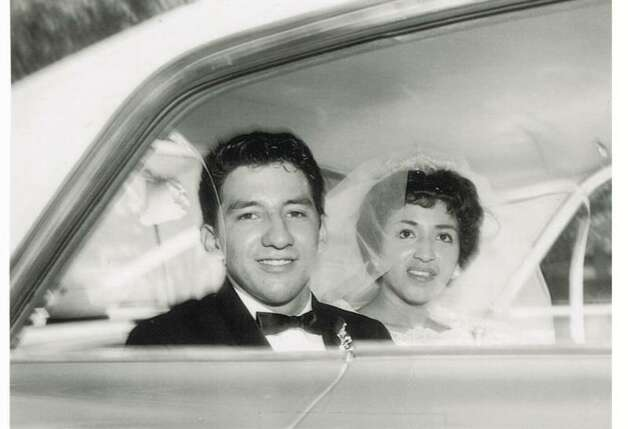 In August of 1962, Rudy C. Medrano married Florence Guerra. Edgewood High School sweethearts, their wedding was held on a summer day with temperatures reaching 105 degrees. Their all-day celebration began at 10 a.m. and included an afternoon reception where chicken mole was served. He was 20, she was 19. Too young to drink legally, they toasted their nuptials with 7UP. Photo: Andrew Medrano
