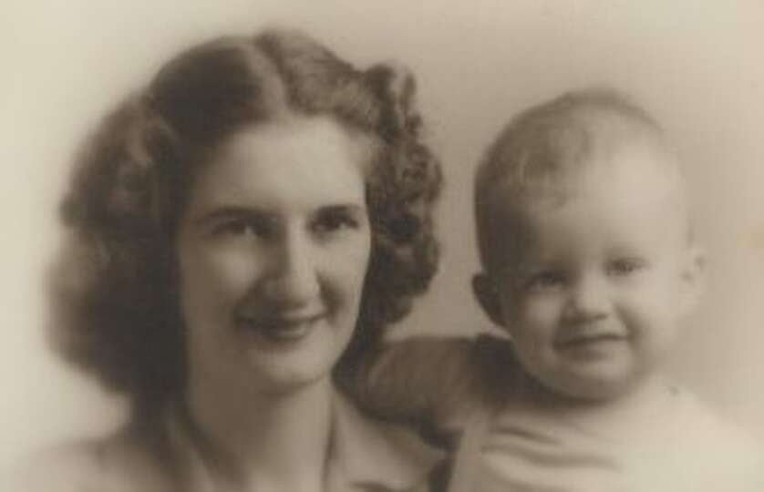 Edna Mae Breaux and her son Kenneth Breaux taken in 1945 in Memphis, Tennessee. Edna Mae moved from