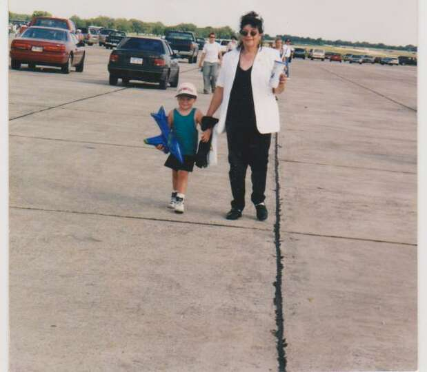 This photograph of Mary Houston and her grandson Houston Mcleod was taken in 1996 at an air show at