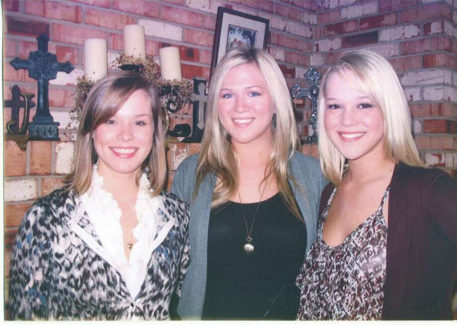 2012: Christy, Amy and Leigh Anne at their grandparents house. Photo: Loretta Huddleston,  Reader Submi