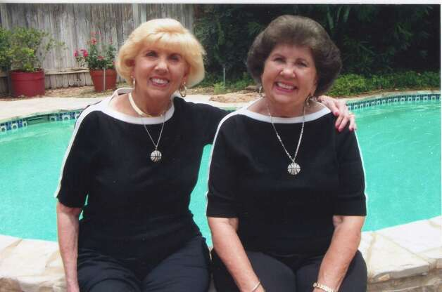 Twins and best Bettye Lou and Billye Sue Middleton at a family reunion in San Antonio, in June 2012. Billy Sue Hardin retired after teaching school for 44 years.