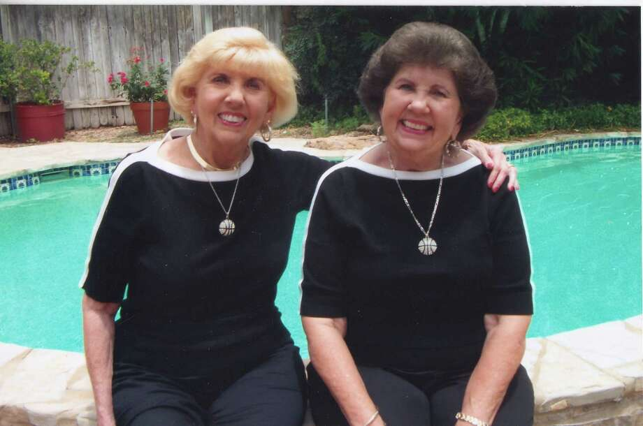 Now: Twins and best Bettye Lou and Billye Sue Middleton at a family reunion in San Antonio, in June 2012. Billy Sue Hardin retired after teaching school for 44 years.