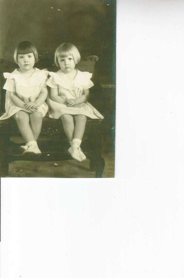 Twins and best friends Bettye Lou and Billye Sue Middleton in Melvin, Tex., in 1936 when they were 5 years old. Photo: Betty Lou Biulta, Reader Submiss