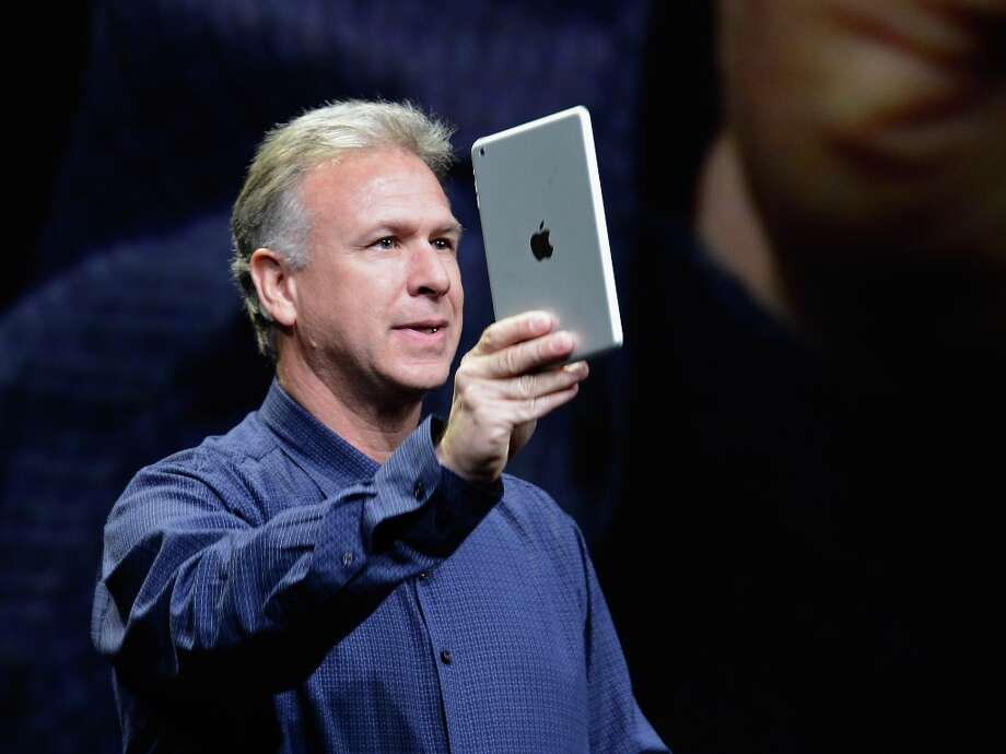 Apple Senior Vice President of Worldwide product marketing Phil Schiller announces the new iPad Mini during an Apple special event at the historic California Theater in San Jose. The iPad Mini is Apple's smaller version of the iPad tablet. Photo: Kevork Djansezian, Getty Images / 2012 Getty Images