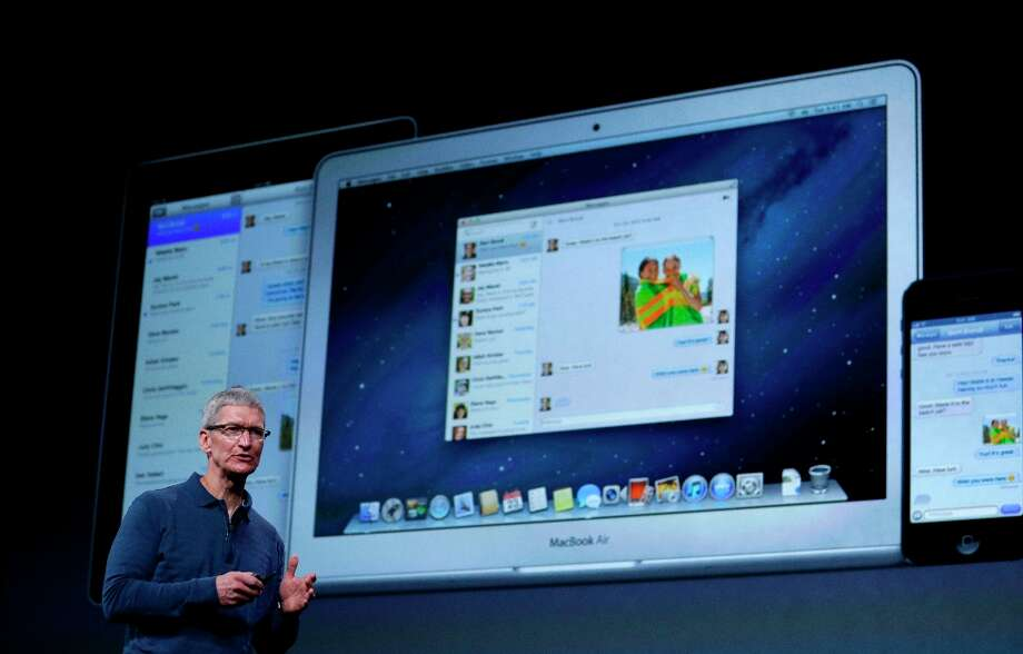 Apple CEO Tim Cook speaks during an event to announce new products in San Jose. Photo: Marcio Jose Sanchez, Associated Press / AP