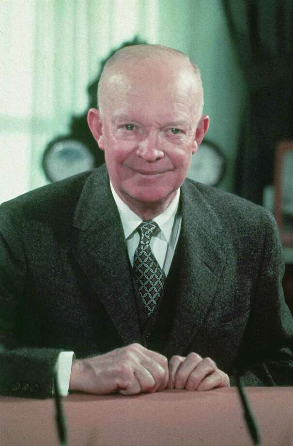 "In 1957, Dwight Eisenhower used a personal ""West Point Bible,"" open to Psalm 33:12. In 1953, he used two Bibles, one used by George Washington in 1789, open to Chronicles 7:14, and his personal Bible, open to Psalm 33:12. Psalm 33:12""Blessed is the nation whose God is the Lord, The people He has chosen as His own inheritance.""Chronicles II 7:14""if my people, who are called by my name, will humble themselves and pray and seek my face and turn from their wicked ways, then I will hear from heaven, and I will forgive their sin and heal their land."" Photo: AP / AP"