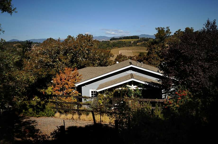 Laurie Erickson's 1,000-square-foot Healdsburg cottage was designed and built by her father. Photo: Erik Castro, Special To The Chronicle
