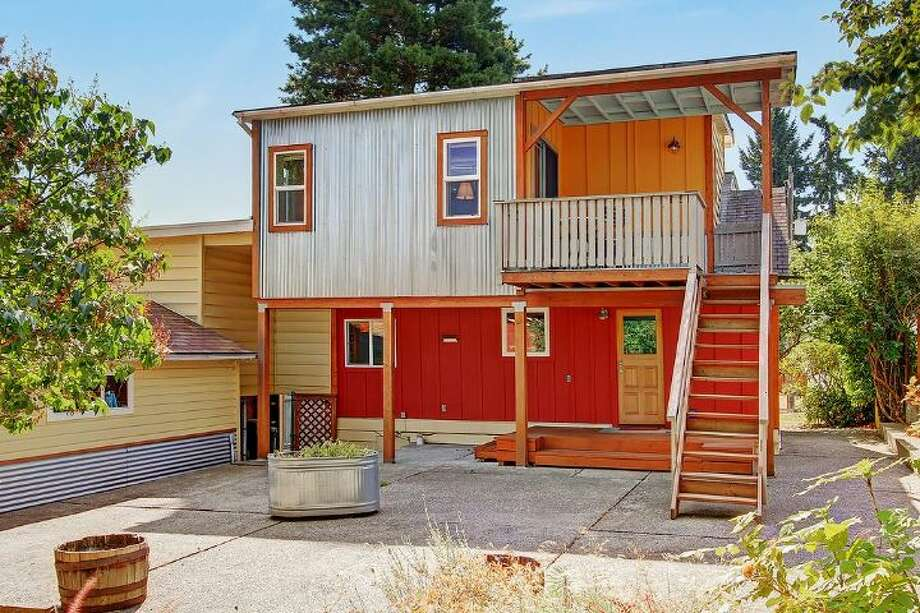 Guest house, with a kitchen and three-quarter bathroom, of 1542 N.E. 88th St. The 1,917-square-foot house, built in 1936, has three bedrooms, two bathrooms, a deck and a patio on a 7,250-square-foot lot. It's listed for $482,000, although a sale in pending. Photo: Courtesy Shawna Ader And Heather Berger/Windermere Real Estate