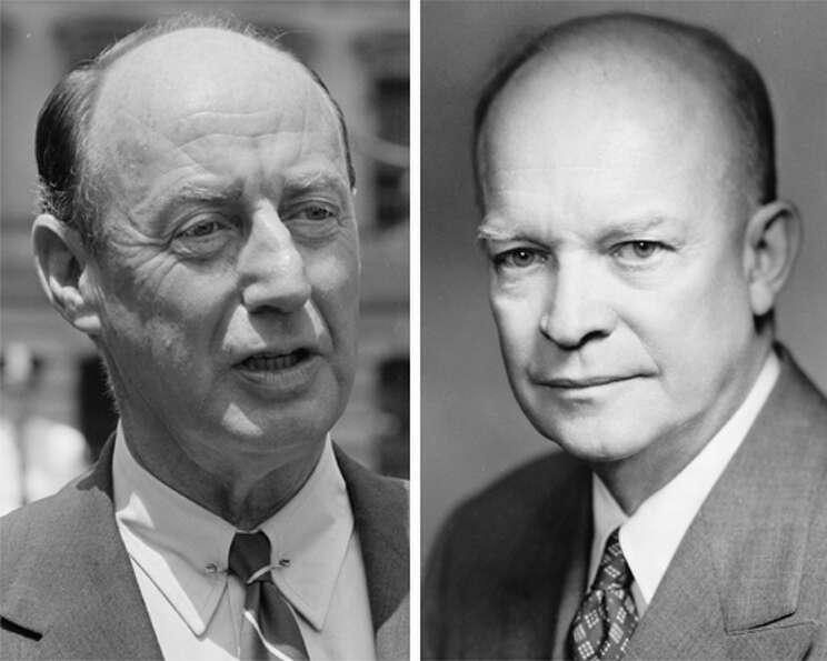 1952: No endorsement. Candidates, Adlai Stevenson, left, Democrat; and Dwight D. Eisenhower,