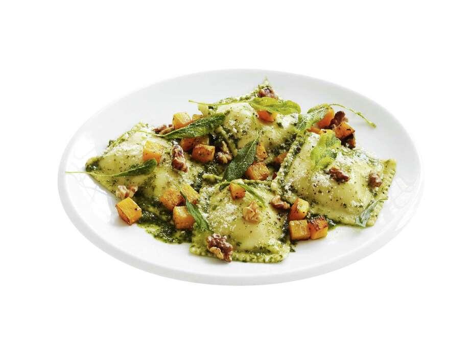 Redbook recipe for Ravioli with Pesto, Squash, and Sage. Photo: Steve Giralt
