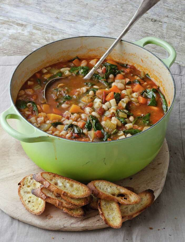Garten says cooks will fall in love with Winter Minestrone & Garlic Bruschetta. Photo: Quentin Bacon / © Quentin Bacon