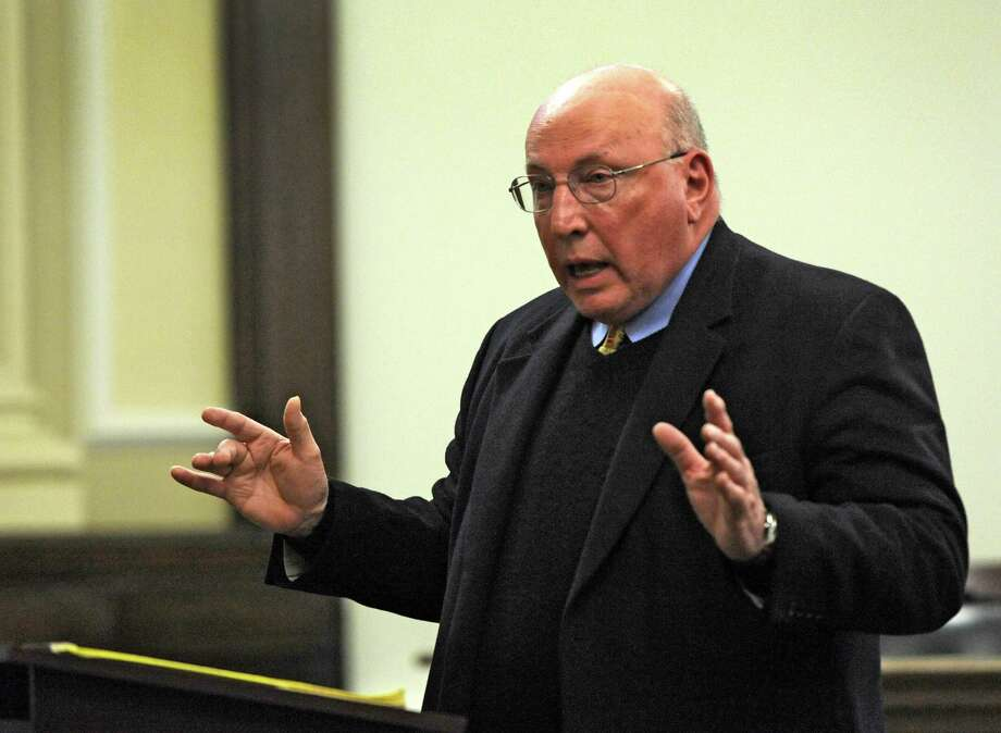 Defense Attorney Michael Feit who represents Michael LoPorto presents his final summations in the ballot fraud case in the Rensselaer County Courthouse in Troy, N.Y. March 2. 2012.  (Skip Dickstein / Times Union) Photo: SKIP DICKSTEIN / 2011
