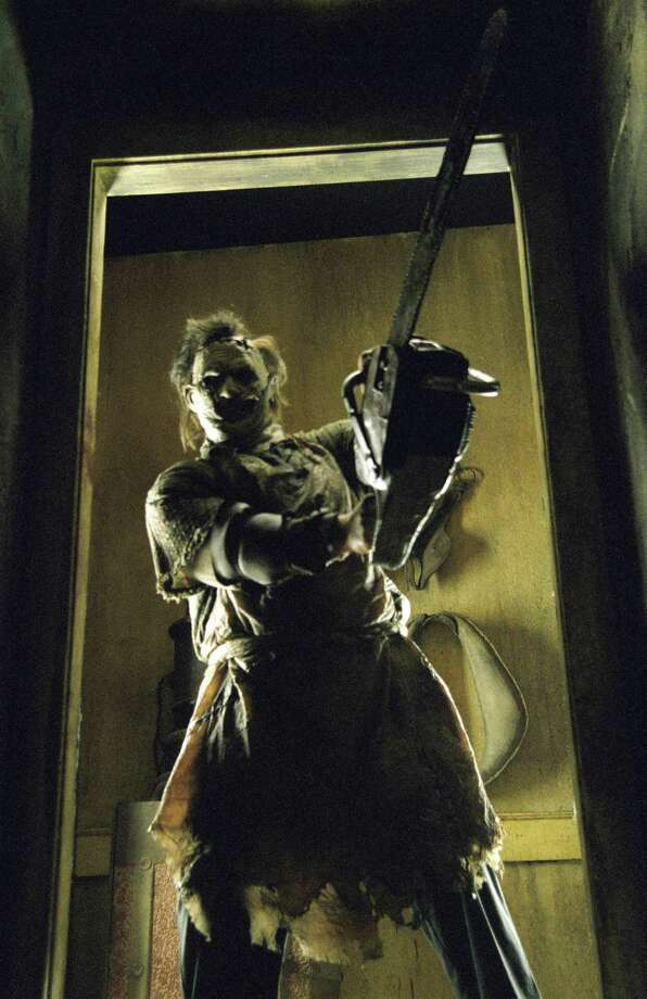 """The Texas Chainsaw Massacre"" introduced the masked chainsaw killer Leatherface and was an immediate hit. Go to any haunted house attraction and you will encounter a Leatherface replica chasing you with a chainsaw.  Photo: NEW LINE CINEMA / handout email"