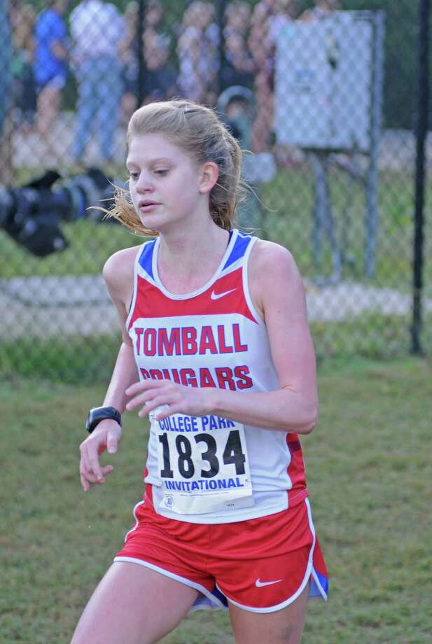 Tomball senior Rachel St. Martins and the rest of the Lady Cougars and Tomball boys will compete in the District 22-4A Meet at 10 a.m. Thursday, Oct. 25, 2012, at George Bush Park. Photo: L. Scott Hainline