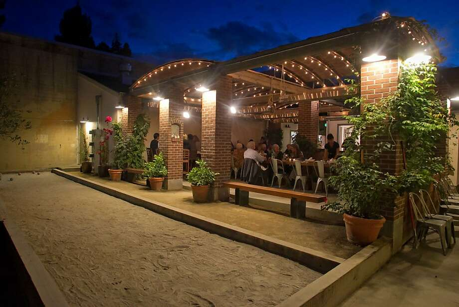 The bocce ball court at Campo Fina in Healdsburg. Photo: John Storey, Special To The Chronicle