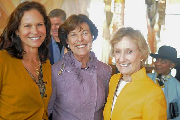 "Randi Fisher (left) with Mary Robinson and Nancy Bechtle at the Museum of Performance & Design. Photo: Ray ""Scotty"" Morris, Special To The Chronicle"