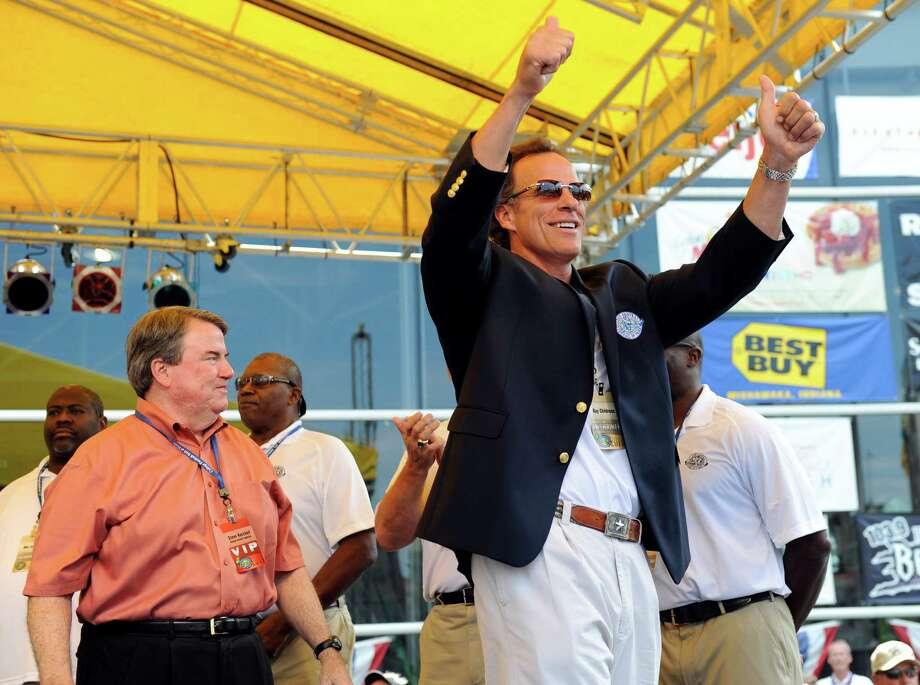 Ray Childress was an ex-Houston Oiler.  Photo: Joe Raymond, Associated Press / Joe R. Raymond