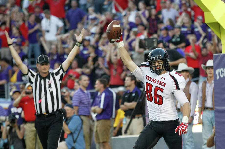 Texas Tech fifth-year senior wide receiver Alex Torres lost his place in the starting rotation but caught the game-winning touchdown in last weekend's 56-53 triple-OT win at TCU. Photo: LM Otero, Associated Press / AP