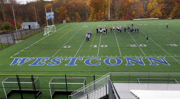 WestConn is written across the field at the Westside Athletic Complex at Western Connecticut State University's westside campus, where the football team is practicing, Tuesday, Oct. 23, 2012. The university wants to be known as Western instead of WestConn. Photo: Carol Kaliff / The News-Times