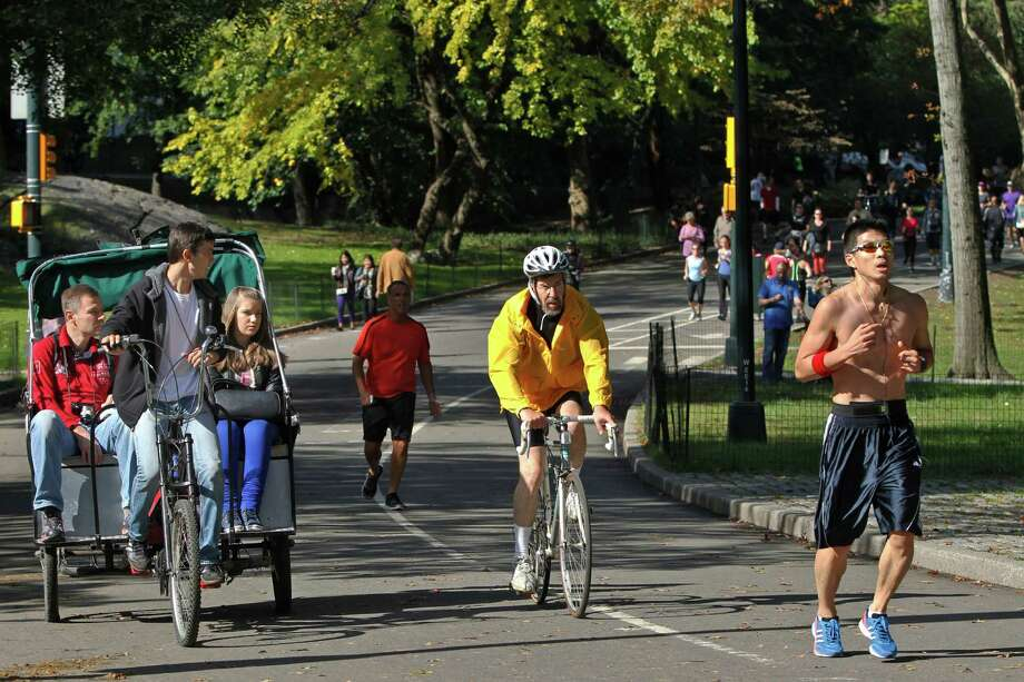 Fall means pedicab tours in Central Park, but ever since a Texas family was charged $442 for one, the city has been pushing for a new pricing structure. Photo: Mary Altaffer / AP