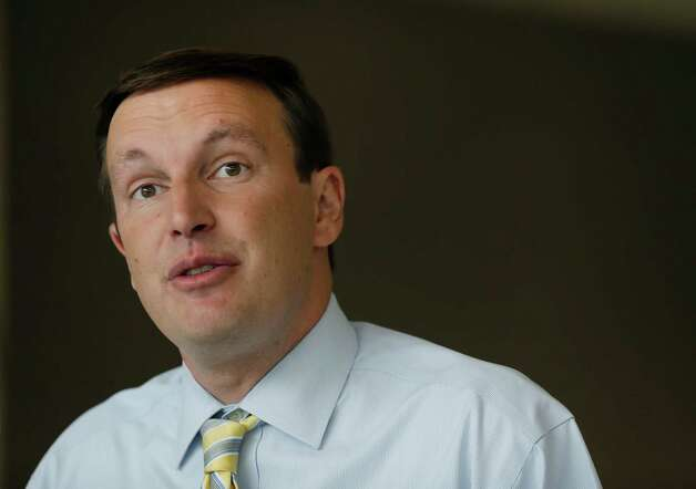 Democratic U.S. Rep. Chris Murphy speaks during a news conference in Wallingford, Conn. Wednesday, Aug. 15, 2012, one day after his primary victory for the open U.S. Senate seat being vacated by retiring U.S. Sen. Joe Lieberman. Murphy called on Republican opponent Linda McMahon to debate next week. (AP Photo/Elise Amendola) Photo: Elise Amendola, Associated Press / AP
