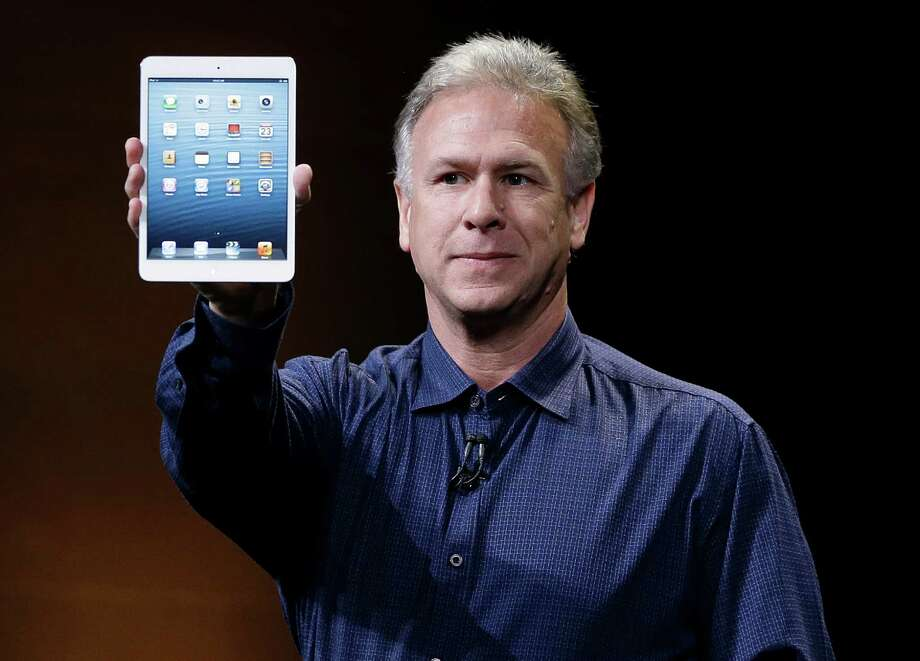 Phil Schiller, Apple's senior vice president of worldwide product marketing, introduces the iPad Mini in San Jose, Calif., Tuesday, Oct.  23, 2012. (AP Photo/Marcio Jose Sanchez) Photo: Marcio Jose Sanchez / AP