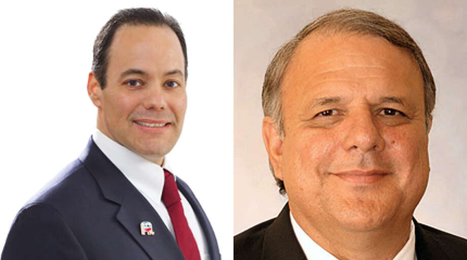 The race to succeed Sylvia Romo as Bexar County Tax Assessor-Collector  has become a grudge match between Republican businessman Robert Stovall (left) and Democratic pol Albert Uresti.