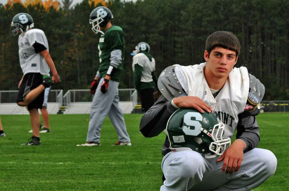 Schalmont High School quarterback Nick Gallo and his team are preparing for their upcoming Section II playoff game against Ravena, on Tuesday Oct. 23, 2012 in Rotterdam, NY.   (Philip Kamrass /  Times Union) Photo: Philip Kamrass / 10019788A