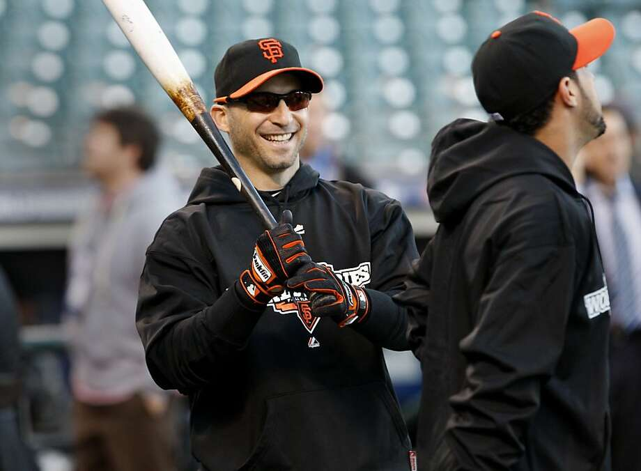 No Giant has more at-bats against Detroit's Justin Verlander than Marco Scutaro, who is 5-for-25 with a double and triple. Photo: Brant Ward, The Chronicle