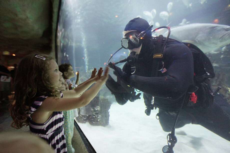 Downtown Aquarium Cuisine: SeafoodTime: 10:30 a.m.-4 p.m.Location: 410 BagbyPhone: 713-223-3474Reservations: YesPrice: $16.99-36.99 (Kids 2 & under are free.)Website: downtownaquarium.comBonus: Over 40 buffet items to chose from. Also includes Easter egg hunts, photos with the Easter bunny, exhibit feedings, bird show and activities. Includes 50% off all-day adventure pass. Photo: Mayra Beltran, Houston Chronicle / © 2012 Houston Chronicle