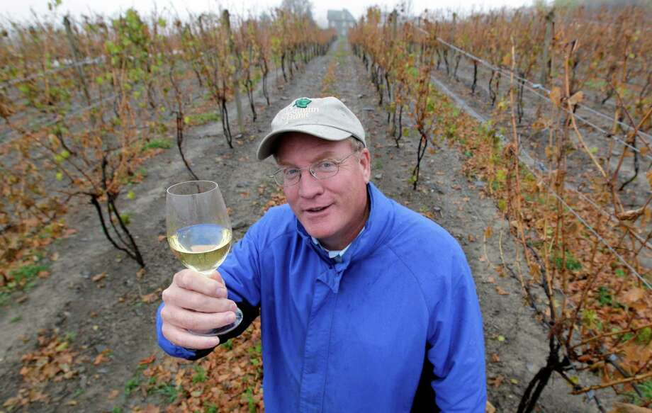 Fred Frank poses for a photo in his vineyard at Dr. Konstantin Frank Vinifera Wine Cellars in Hammondsport, N.Y., Tuesday, Oct. 23, 2012. Frank, grandson of Dr. Konstantin Frank, worries the region's carefully tended reputation is in danger if tourists who make the long trip up from the New York City area and elsewhere have to deal with traffic created by gas drilling. (AP Photo/David Duprey) Photo: David Duprey