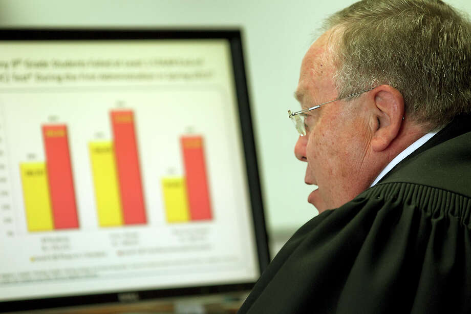 State District Judge John Dietz is hearing the challenge by hundreds of Texas school districts to the state's school funding formula in his Austin court. Photo: Ralph Barrera / American-Statesman