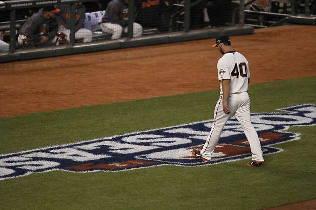 Madison Bumgarner made a quick exit in Game 1 of the NLCS, but says his mechanics are fixed and he's ready for the ball again. Photo: Michael Macor, The Chronicle