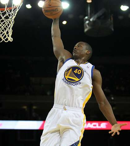 Harrison Barnes #40 of the Golden State Warriors drives to the basket against the Phoenix Suns at Oracle Arena on Tuesday, October 23, 2012 in Oakland, California. Photo: Lance Iversen, The Chronicle
