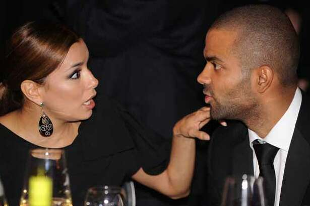 Actress Eva Longoria (L) and NBA player Tony Parker attend the Congressional Hispanic Caucus Institute's 33rd Annual Awards Gala at the Washington Convention Center September 15, 2010 in Washington, DC. President Barack Obama spoke at the event that Speaker of the House Rep. Nancy Pelosi (D-CA), Senate Majority Leader Sen. Harry Reid (D-NV) and New York City Mayor Michael Bloomberg were also scheduled to attend. (Photo by Olivier Douliery-Pool/Getty Images)