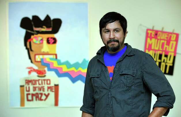 San Antonio artist Cruz Ortiz is having a solo exhibition at the UT Visual Art Center, in Austin.  Thursday, Sept. 20, 2012. Photo: BOB OWEN, San Antonio Express-News / © 2012 San Antonio Express-News
