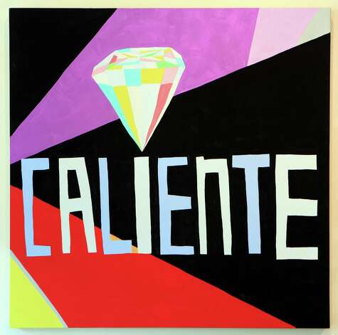 "San Antonio artist Cruz Ortiz is having a solo exhibition at the UT Visual Art Center in Austin.  This piece is titled ""caliente diamond"".  Thursday, Sept. 20, 2012. Photo: BOB OWEN, San Antonio Express-News / © 2012 San Antonio Express-News"